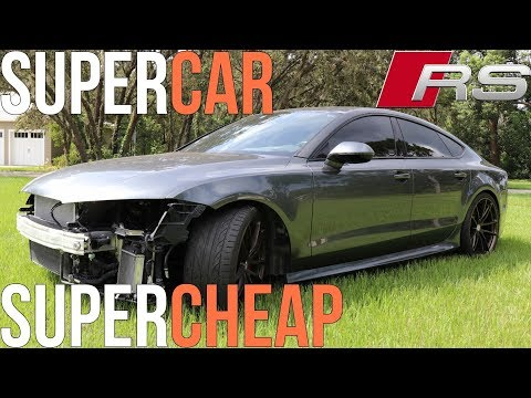 I Bought a Wrecked Audi RS7! Salvage Supercar for CHEAP!