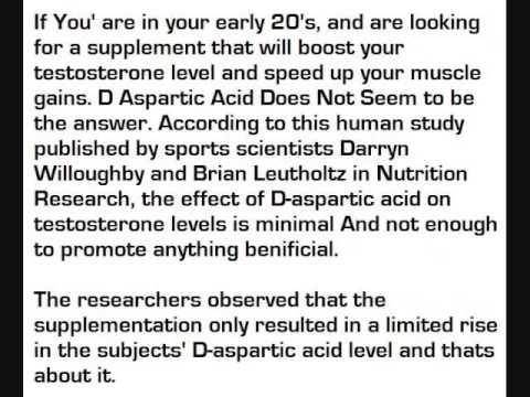 D aspartic acid does it work