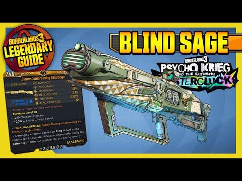 BLIND SAGE | Legendary Weapons Guide! | Psycho Krieg DLC 4 [Borderlands 3]