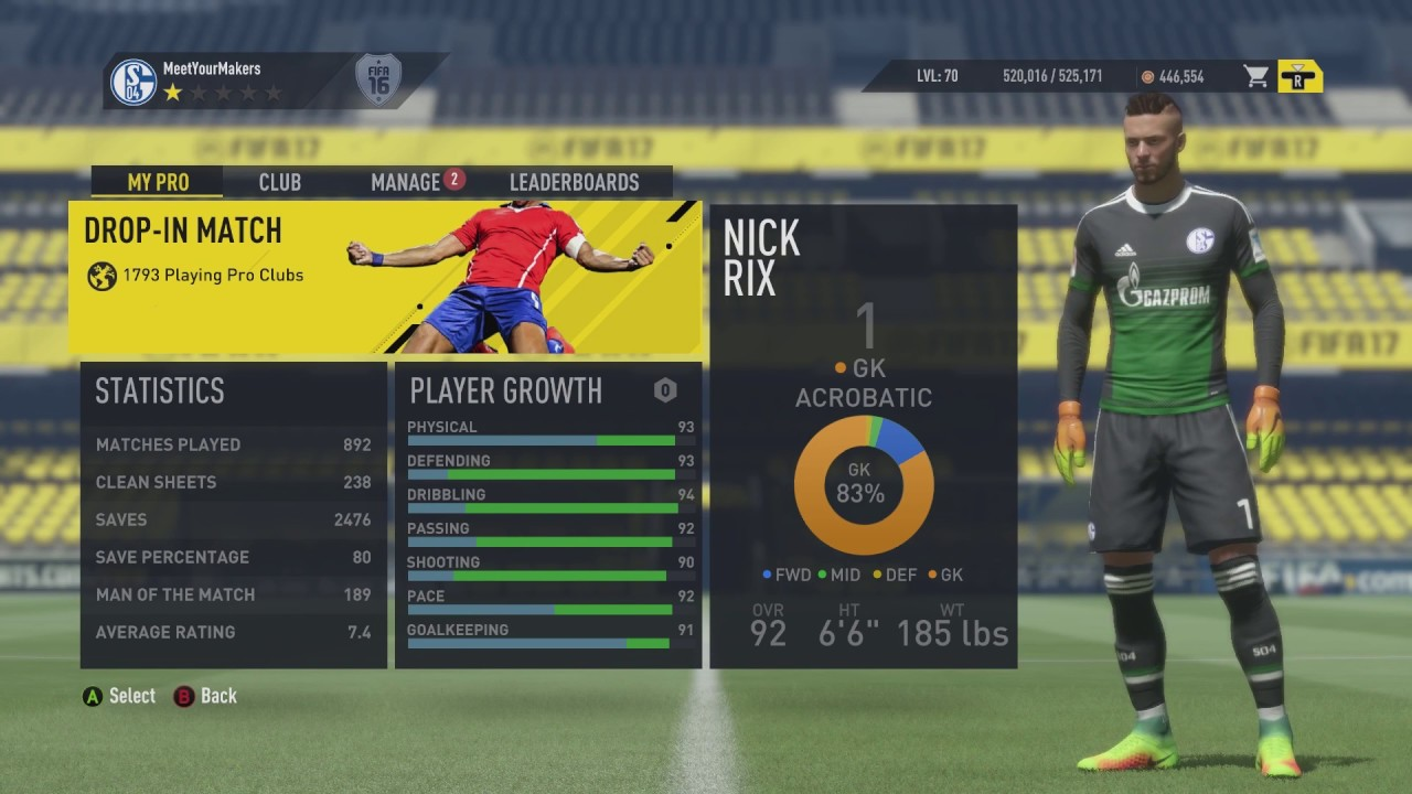 Pro clubs matchmaking settings