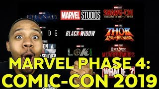 Comic-Con 2019 News: Marvel Reveals Phase 4 Movies and Shows!