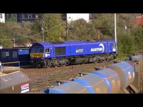 27/10/17 Trains at Wateringbury, Tonbridge Yard and Yalding