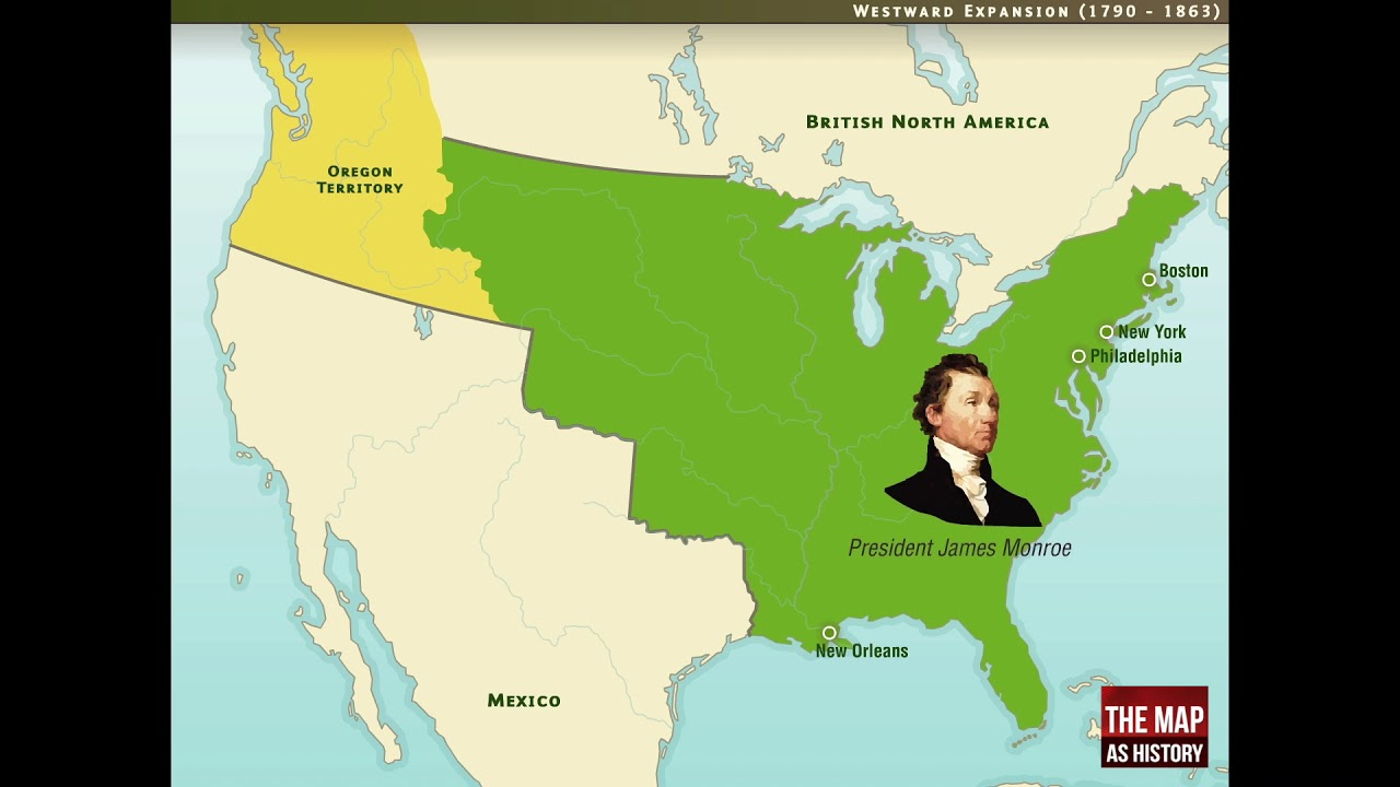 1790 Map Of United States.United States Westward Expansion 1790 1861 Youtube