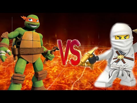 НИНЗЯГО VS ЧЕРЕПАШКИ НИНДЗЯ Супер Реп Битва I  INZAGO VS TEENAGE MUTANT NINJA TURTLES