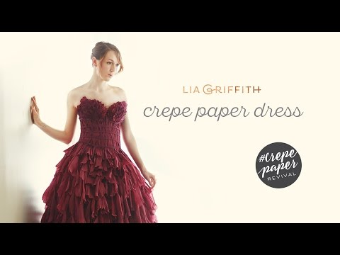 Handmade Crepe Paper Dress by Lia Griffith