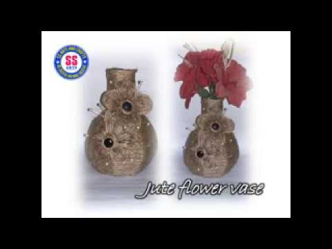 Diyhow To Make Decorative Flower Vase From Jutecard Board And Jute