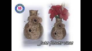 DIY/How to make decorative flower vase from jute/Card board and jute vase