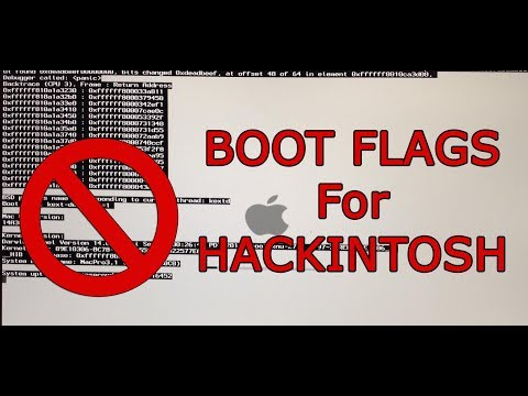 Most useful bootflags for hackintosh!!! Errors Solved !