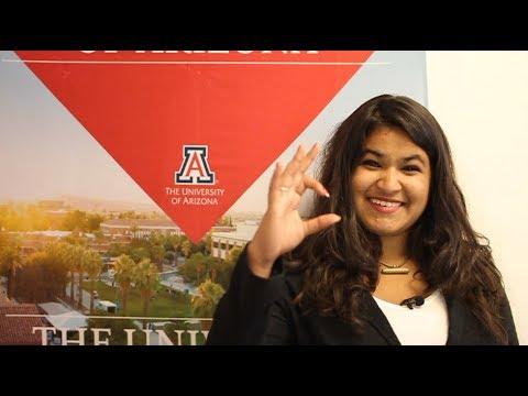 Shruti shares her experience as a University of Arizona student