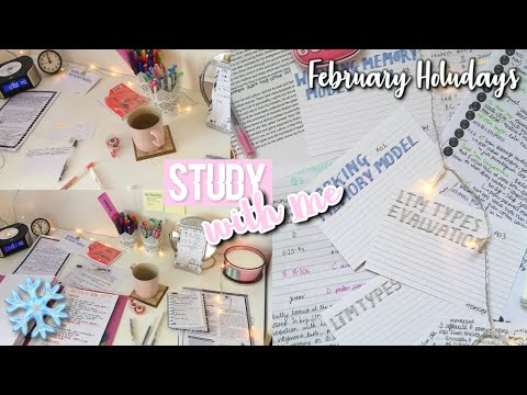 YET ANOTHER STUDY WITH ME // february holiday, half term edition