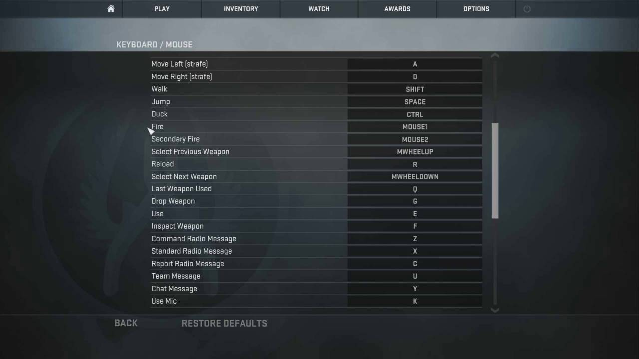My basic mouse keyboard settings for cs go youtube for Cs go mouse