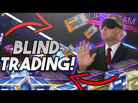 *OMG* I GOT HIS BLACK MARKET DECAL! - Blind Trading w/ Ghost - Rocket League