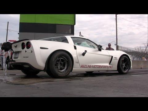 NASTY Twin Turbo Corvette Z06 tears up the dragstrip - Redline Motorsports