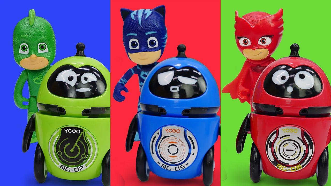 Les Pyjamasques au Musée des Robots pour enfants. Transformers ont un programme de destruction!