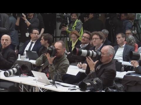 Pressekonferenz mit Angela Merkel und Horst Seehofer