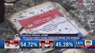 Polisi Selidiki Kasus Pembakaran Kotak Surat Suara di Sungai Penuh, Jambi - iNews Malam 19/04