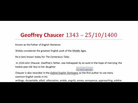 Chaucerian Age, Part-1 | Geoffrey Chaucer | Middle Age | History of English literature