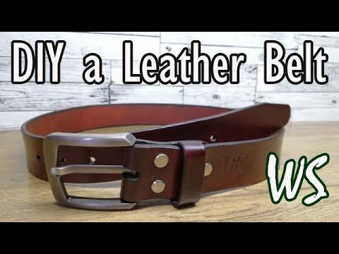 Как сделать кожаный ремень | Ручная работа