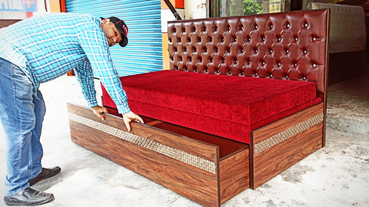 🔥ऐसा 6'x 6' Dewan Cum Double Bed नही देखा होगा with price Detail - Amazing space Saver Double Bed