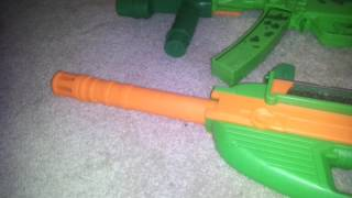 Toy guns and cars