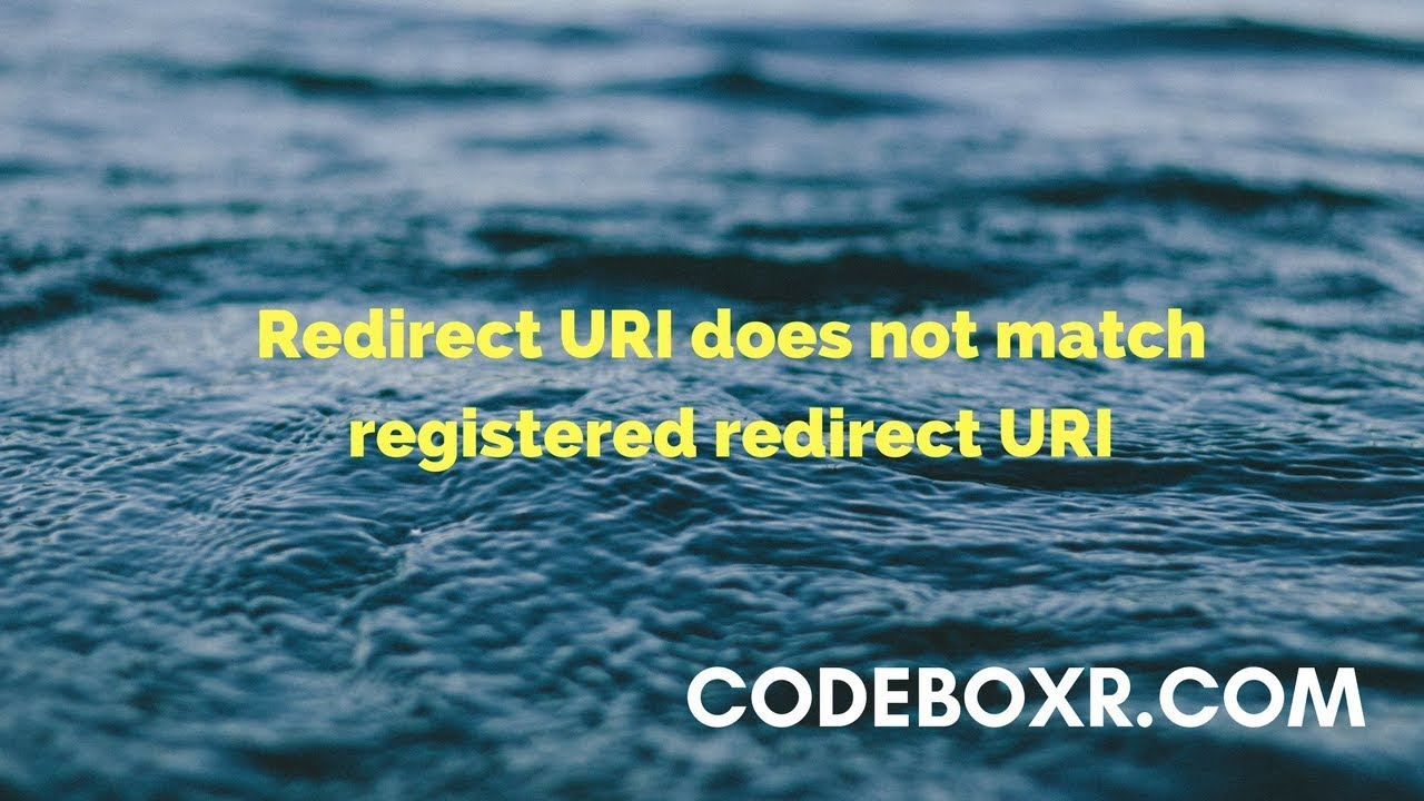 How to Fix Redirect URI does not match registered redirect URI for Instagram