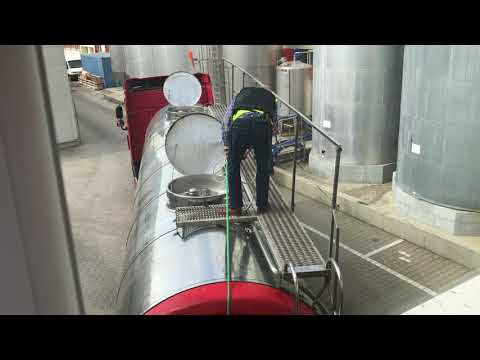 Safety milk tanker cleaning