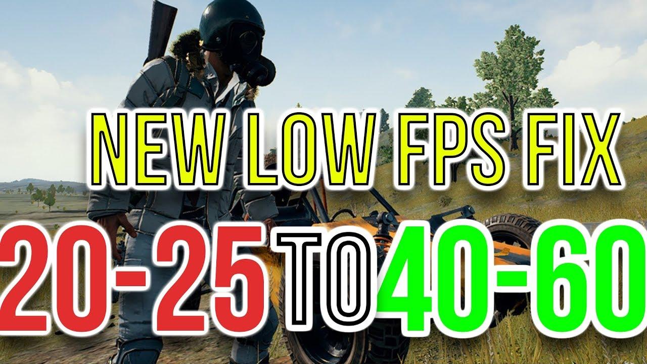 PUBG FPS Fix - New Working FPS Fix -(For Low Spec PC) - Gain More FPS