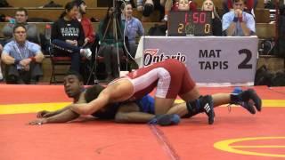 2015 Guelph  FS57kg Chris Waltner (Lakehead) vs Lenford Morris (Brock)