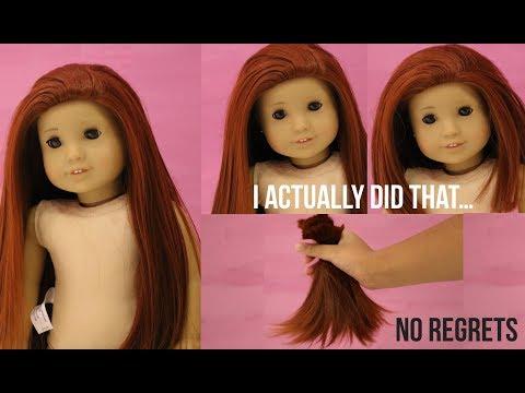 CUTTING MY AMERICAN GIRL DOLL'S HAIR