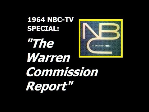 """THE WARREN COMMISSION REPORT"" (1964 NBC-TV SPECIAL)"