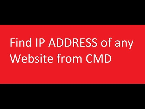 how to know my ip address in command prompt