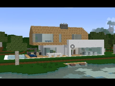 Minecraft Modern Simple Easy To Build Home With Wood
