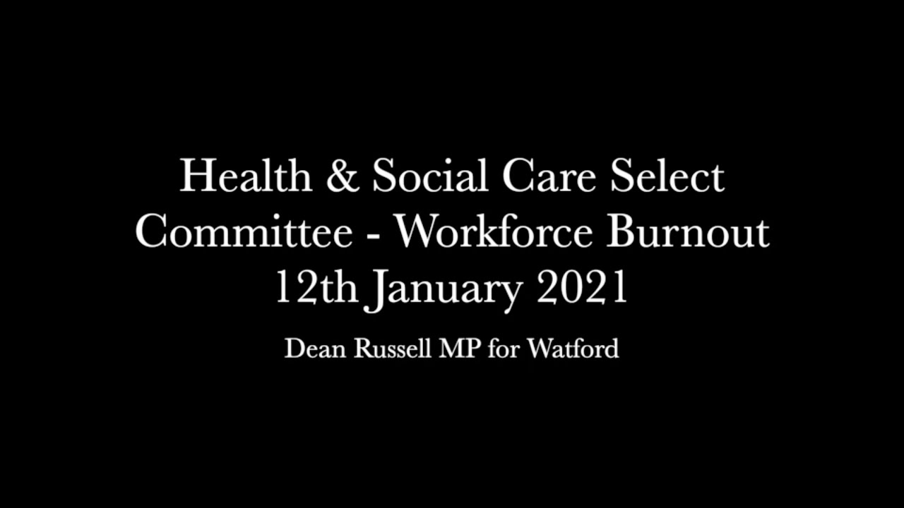 Health & Social Care Select Committee: CEO of NHS Providers asked about the impact on NHS staff