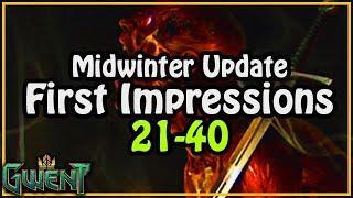 KBT Talks Trash ► New Cards 21-40 First Impressions | Gwent