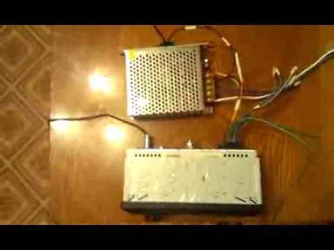 Подключение автомобильной магнитолы к сети 220 вольт без блока питания