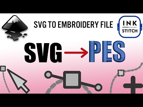 Turn A SVG Into Embroidery File Tutorial! 100% Free Digitizing Software!