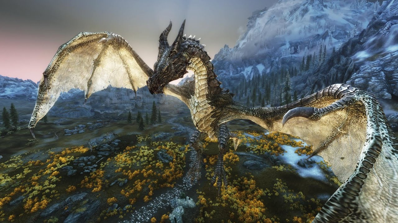 Skyrim Dragon: All Named Dragons + DLC (LEGENDARY)