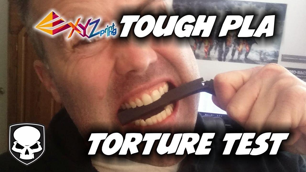 tough pla new 3d printing filament torture test youtube. Black Bedroom Furniture Sets. Home Design Ideas