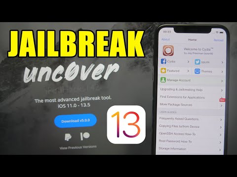 How to Jailbreak iOS 13.0 - 13.5 (ALL DEVICES) using unc0ver! - iPhone /  iPad / iPod touch - YouTube