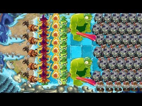 Zoybean Pod vs Wasabi Whip vs witch Hazel vs All zombies pvz 2