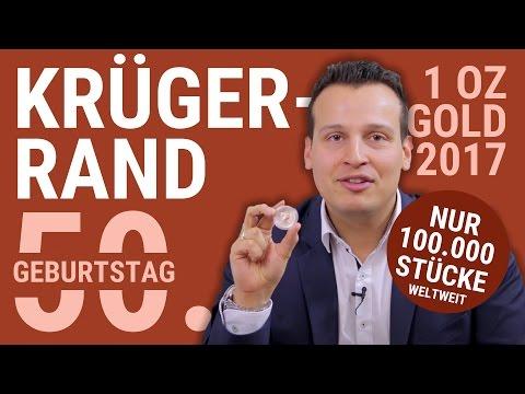 KRÜGERRAND 2017 - 50. Geburtstag | Limitierte Auflage: 100.000 Stück - 1 Unze Gold Krugerrand Münze