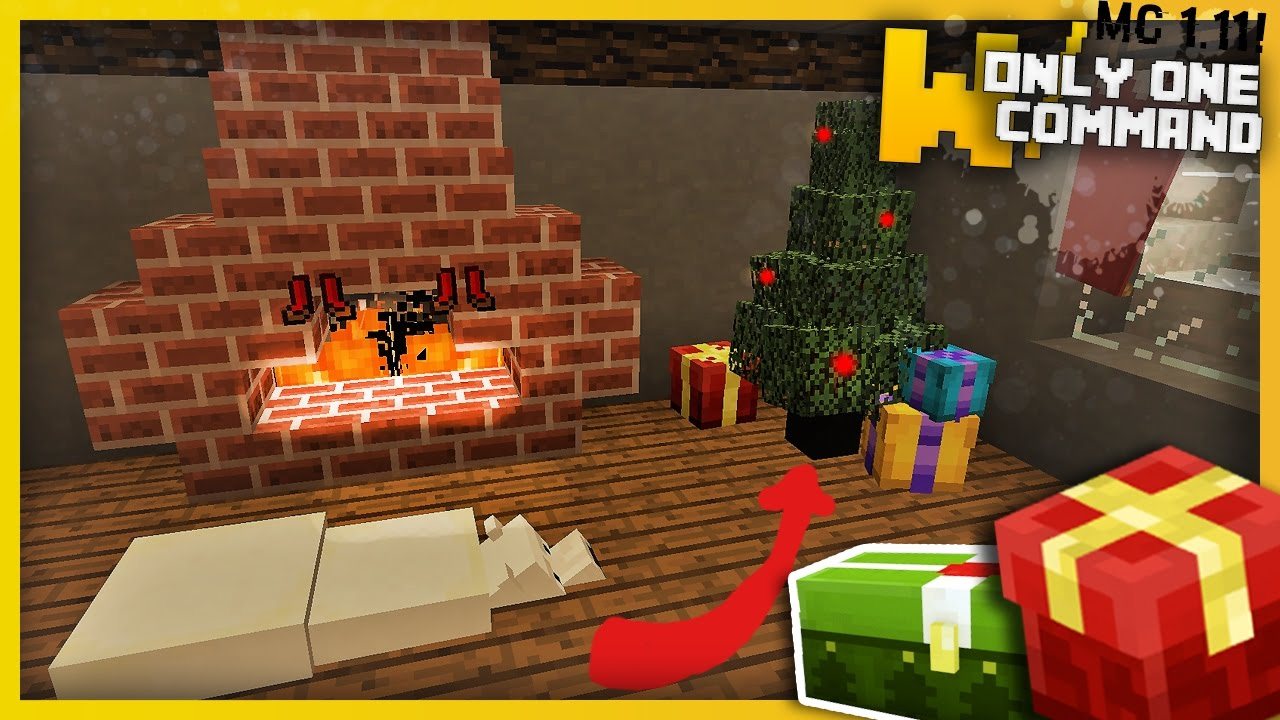 Minecraft Christmas Decorations With Only One Command Block Youtube
