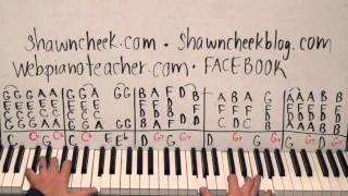 Christmas Piano Lesson - Shawn Cheek Tutorial