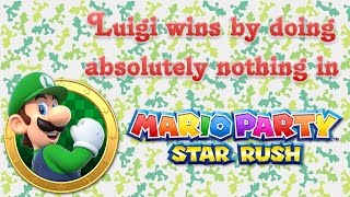 Mario Party: Star Rush - Luigi wins by doing absolutely nothing