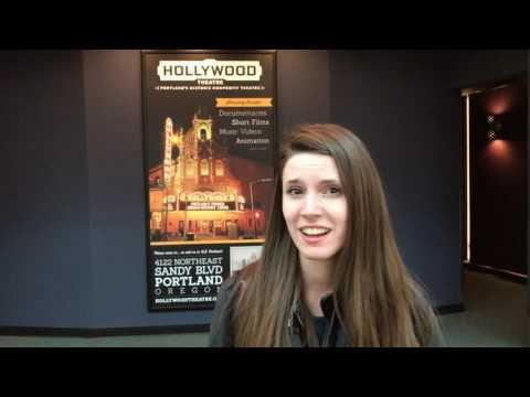 Portland Airport mini movie theater
