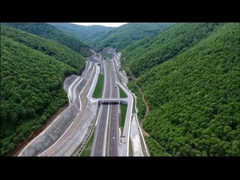 O-5 Gebze-Busa otoyolu ve Osmangazi Köprüsü havadan / Gebze-Bursay highway