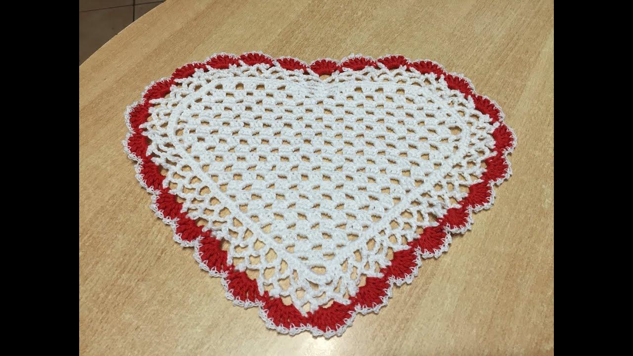 Tuto Napperon Coeur Au Crochet Spécial Gaucher
