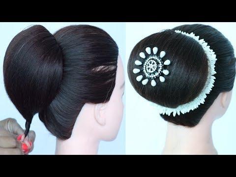 new juda hairstyle trick with gajra || wedding gown hairstyle || bridal juda hairstyle || hairstyle thumbnail