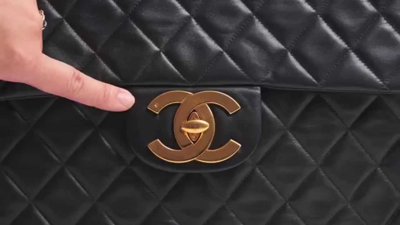 2be89e8eab2e Top 5 tips to authenticate a vintage Chanel flap bag - YouTube