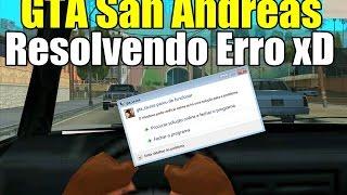 GTA San Andreas - Corrigindo Erro Mod First Person Bug Fix, gta_sa.exe Parou De Funcionar